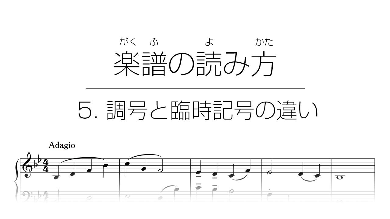 初心者でもわかる楽譜の読み方 | 5. 調号と臨時記号の違い