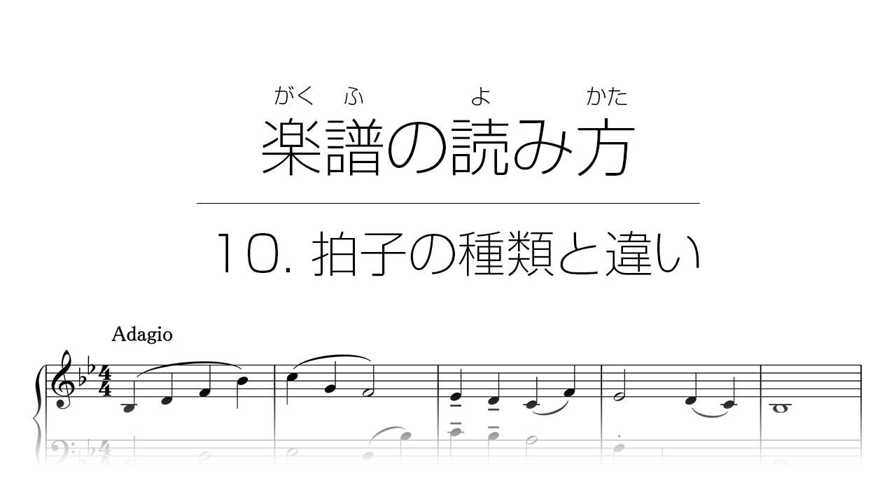 初心者でもわかる楽譜の読み方 | 10. 拍子の種類と違い