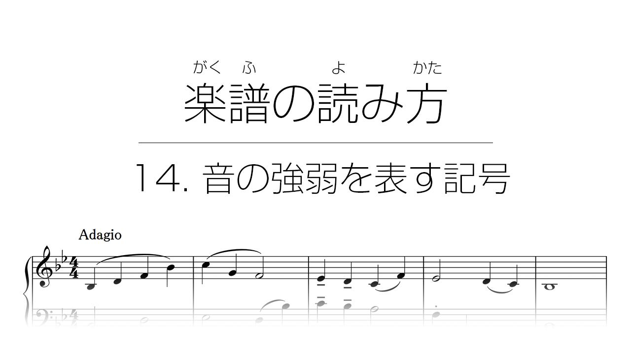 初心者でもわかる楽譜の読み方 | 14. 音の強弱を表す記号